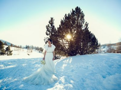 Clare and Rob, winter wedding in Sestriere