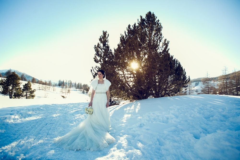 winter wedding photographer Sestriere italy