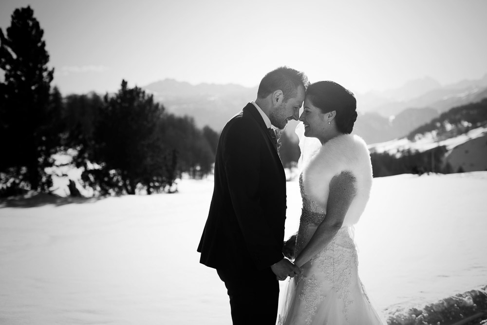 bride and groom sestriere
