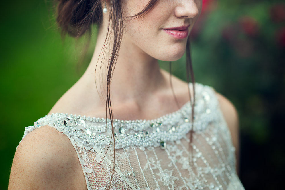 bride close up