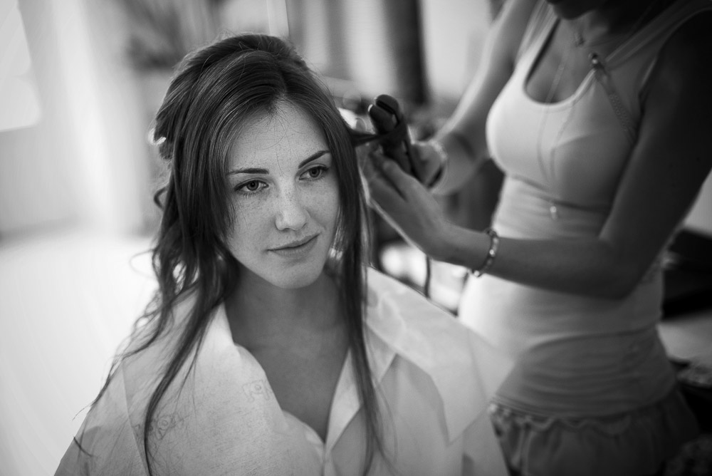 hair styling for bride