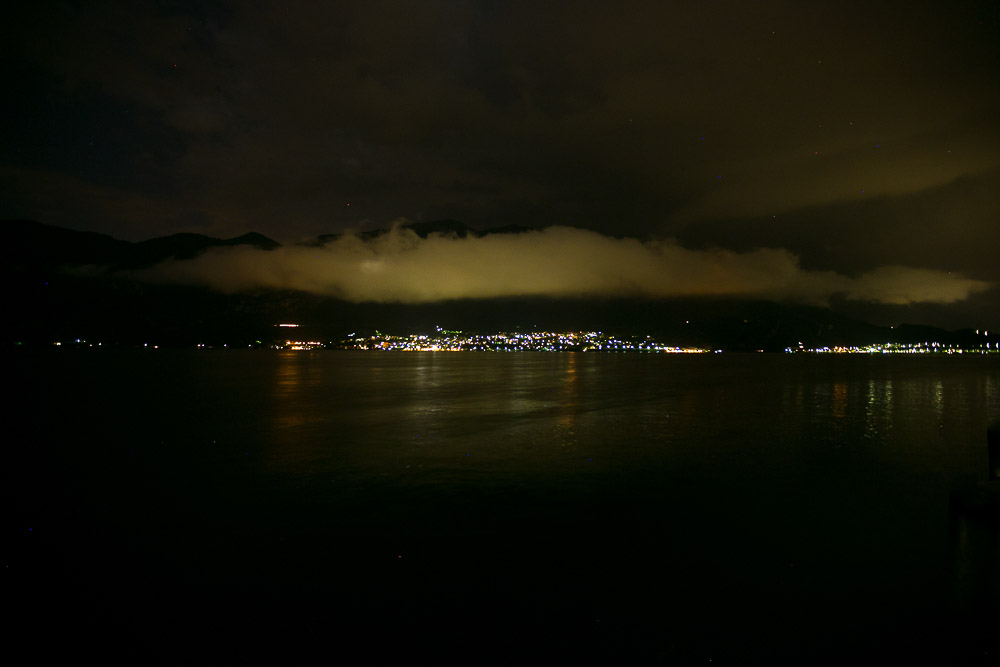 lake Como night view