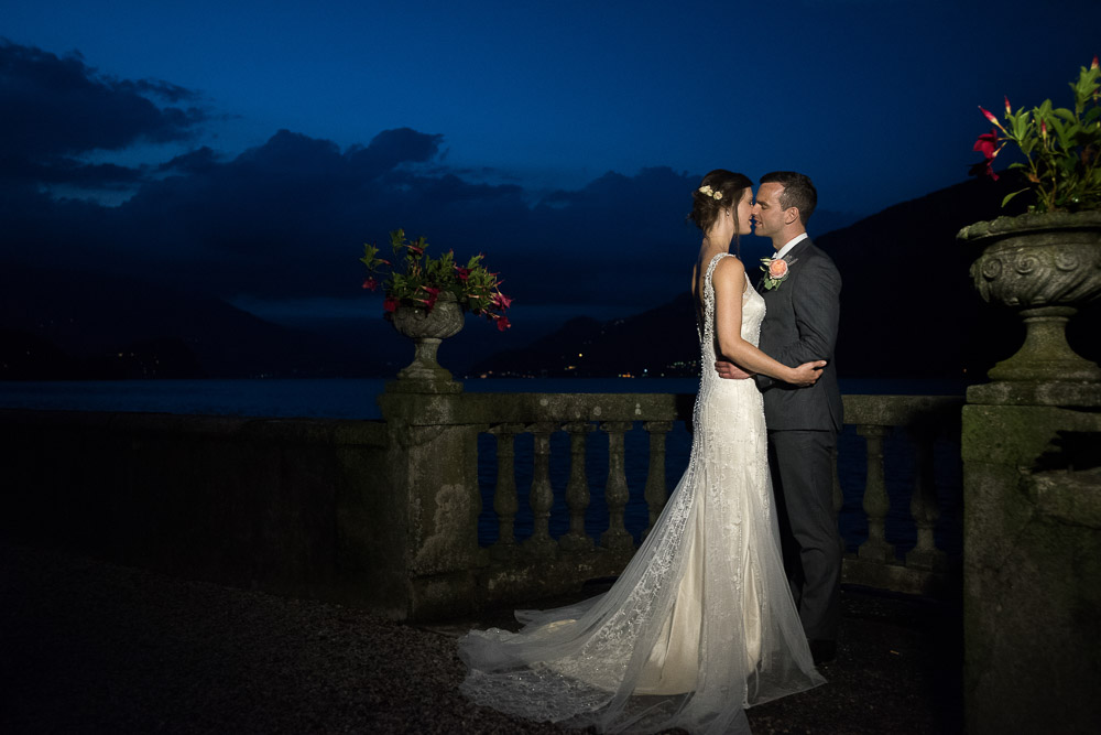 lake como blue hour wedding