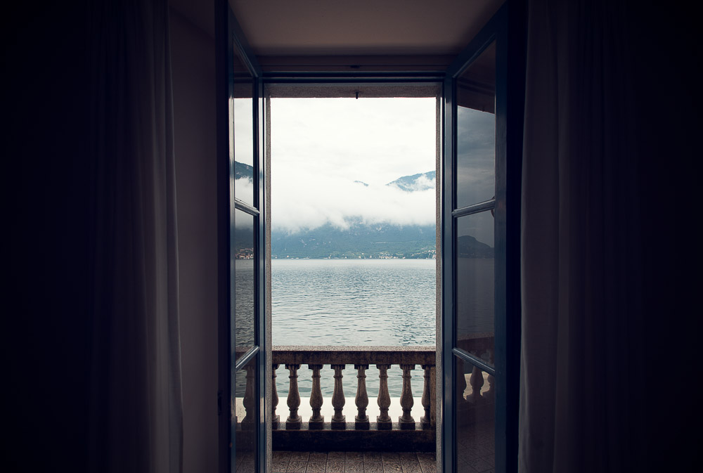 lake Como from balcony villa