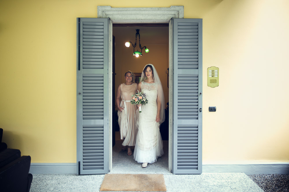 the bride leaving her room