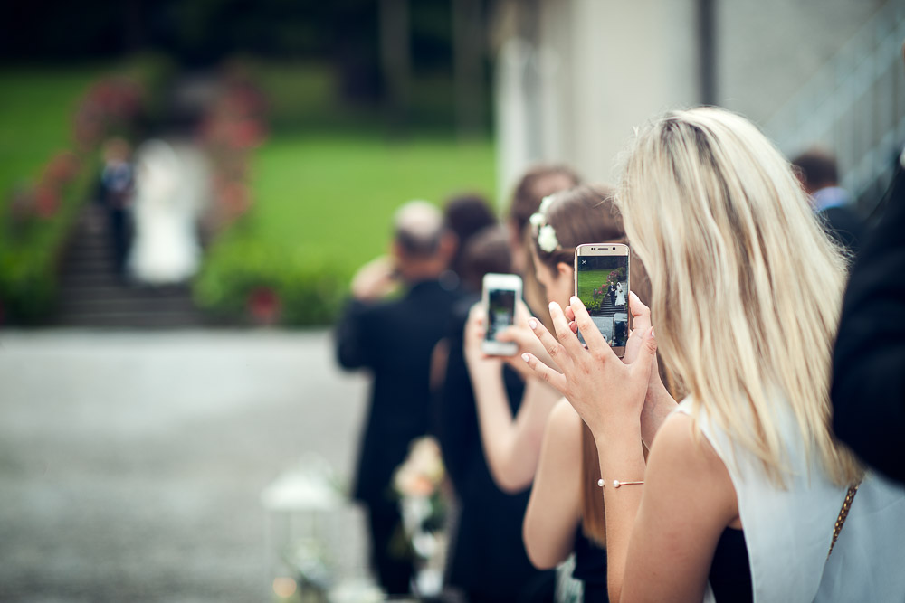 taking photo at the bride