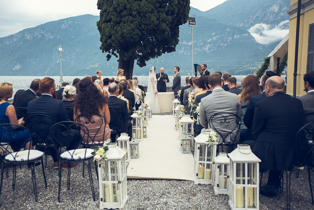 wedding ceremony by the lake Como Villa Corte del lago