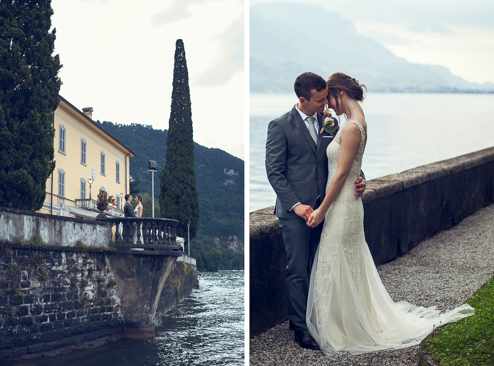 romantic wedding by the lake Como