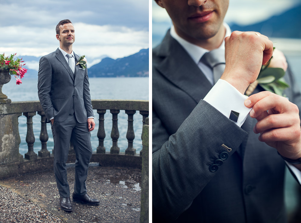 groom and cufflink