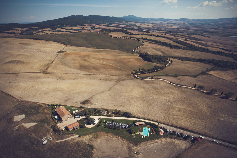Val d'Orcia, aerial view