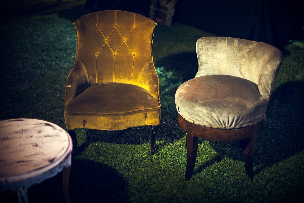 antique furniture at the wedding