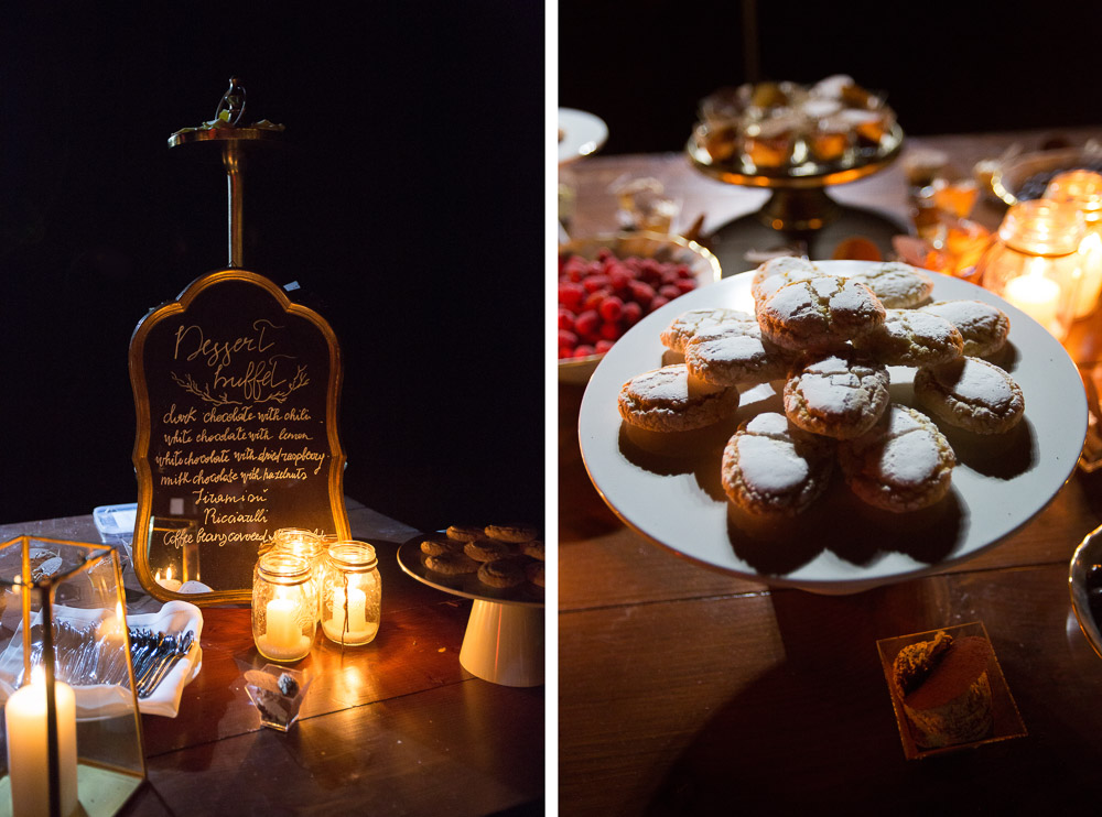 sweets and dessert table