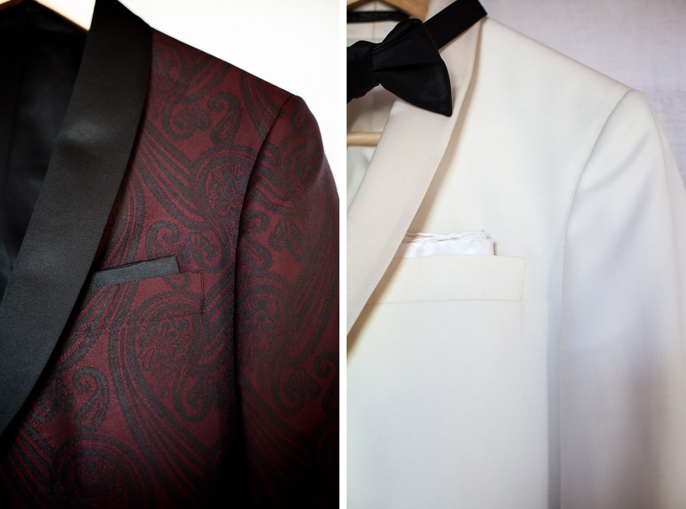 wedding suit details