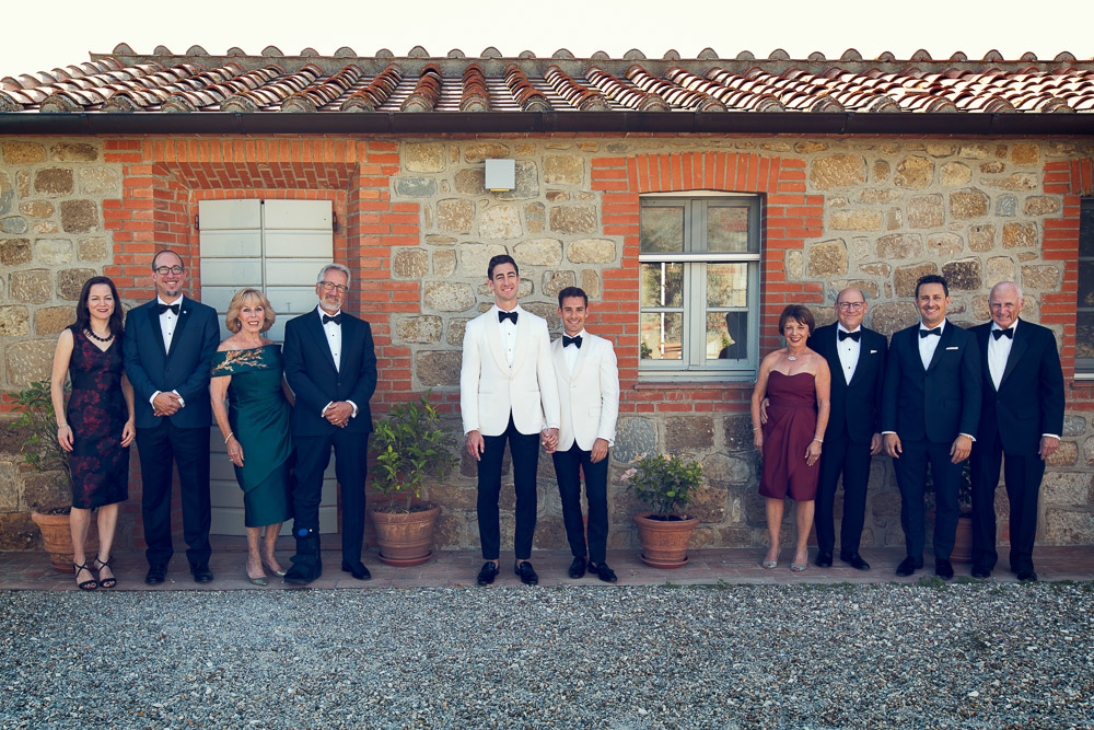 wedding photo with families