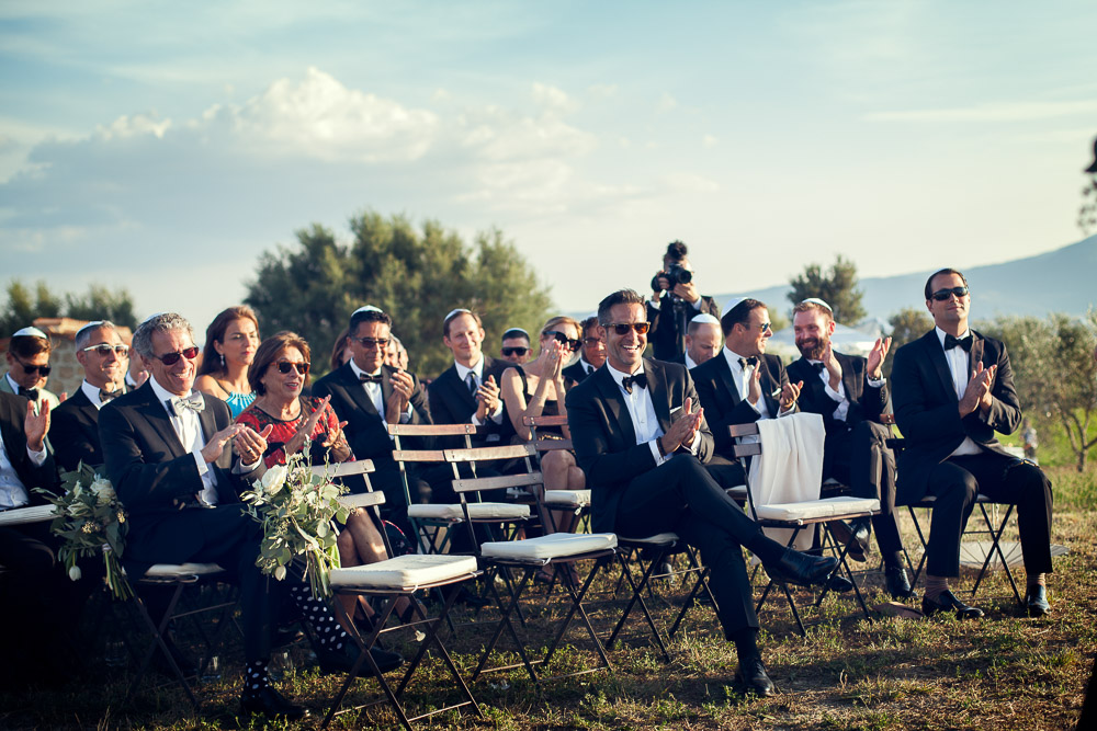 wedding guests at the ceremony