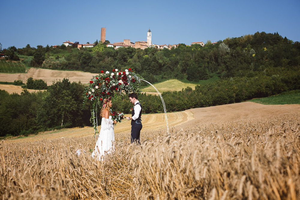 elopement in Monferrato hills