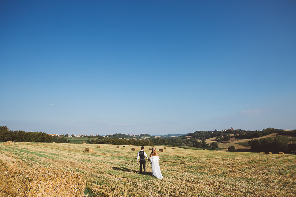 newlyweds and Monferrato hills