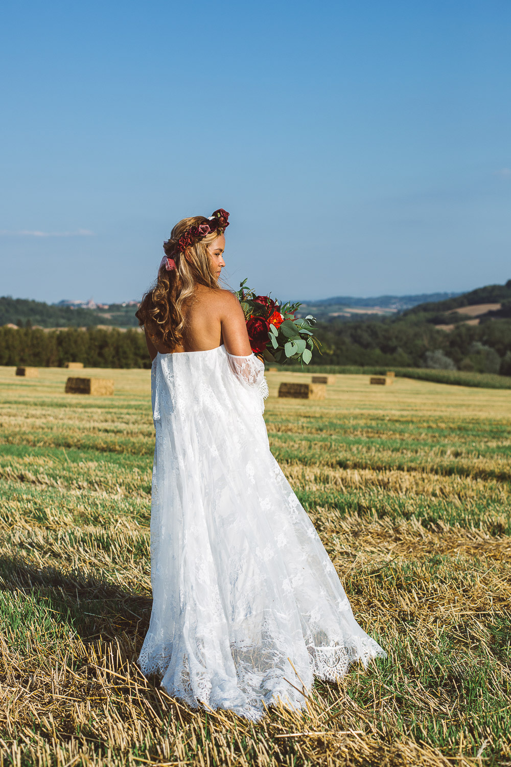 beautiful bride in Monferrato hills
