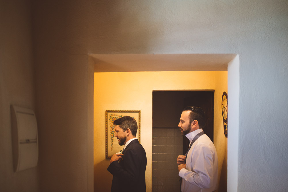 groom gets ready