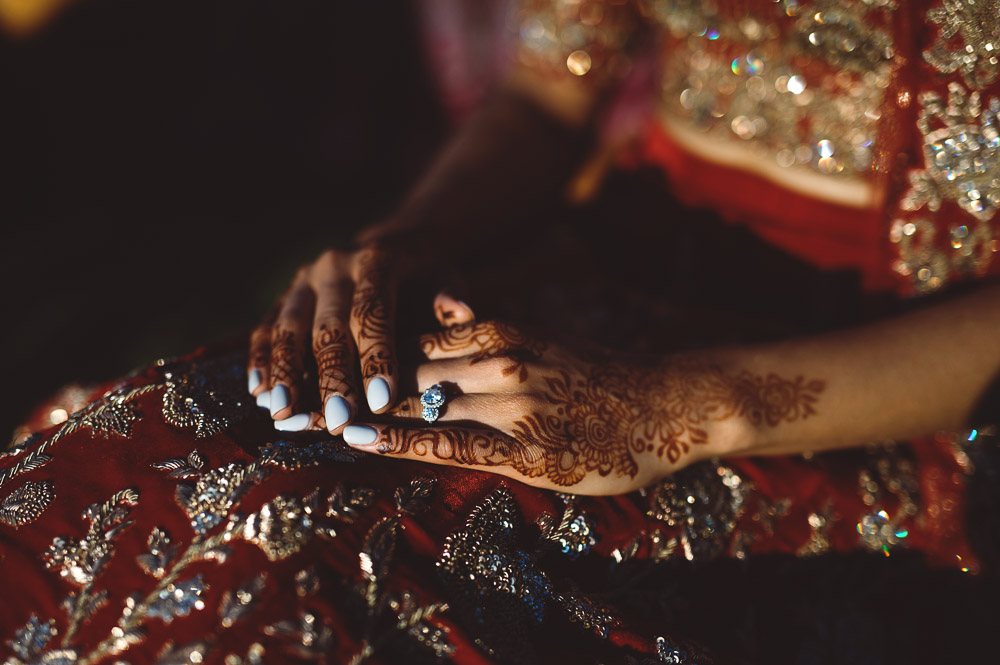 bride's painted hands