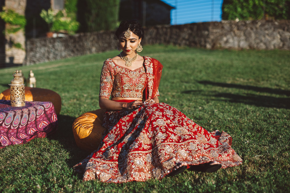 Indian bride, wedding in Italy