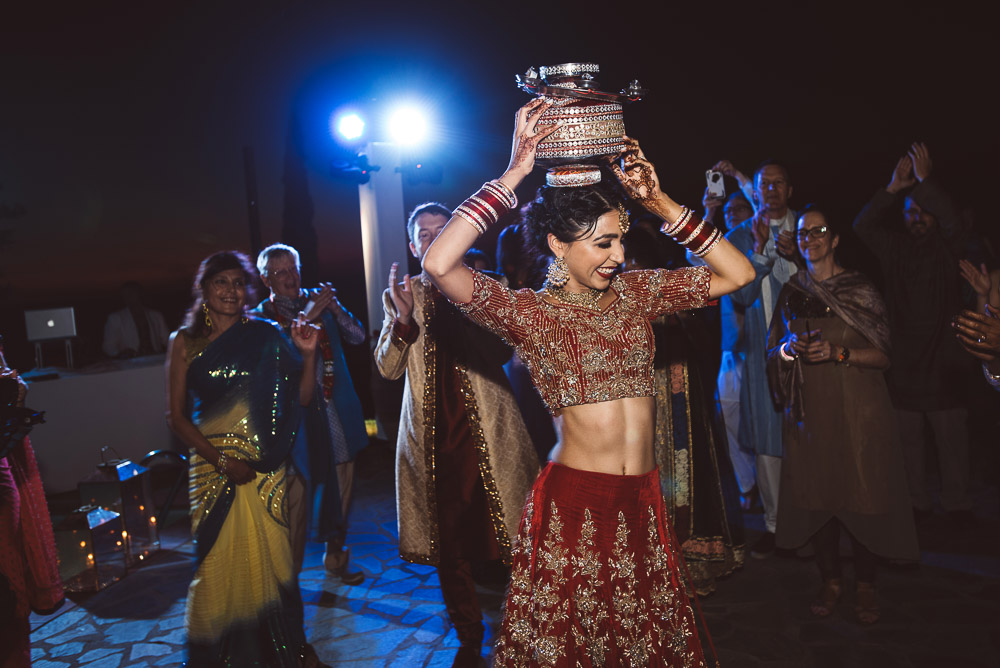indian bride dancing
