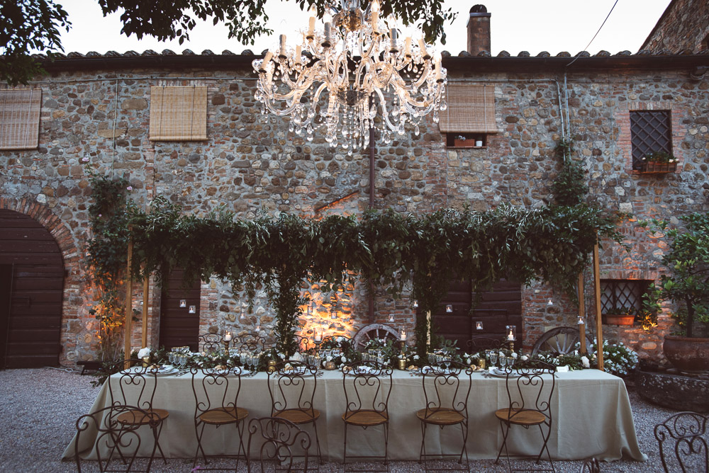 wedding in Tuscany reception