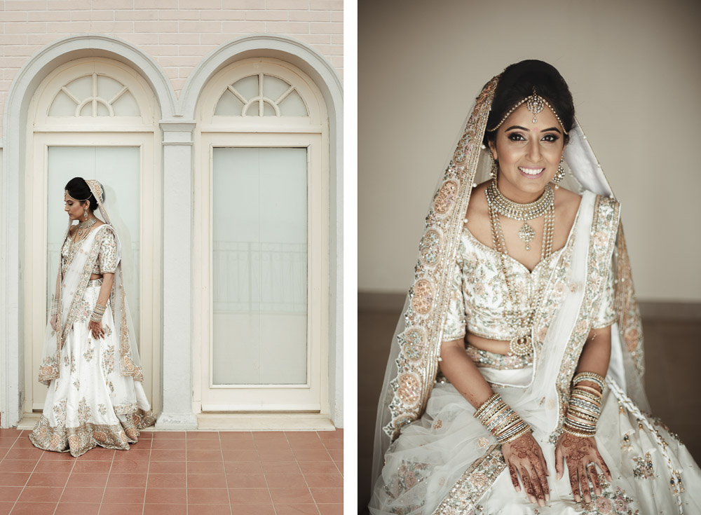 stunning Indian bride in Italy