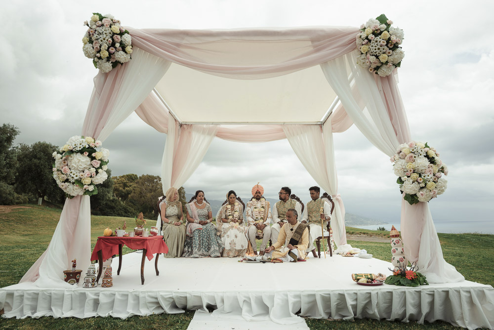 Mandap ceremony, Indian wedding in Italy