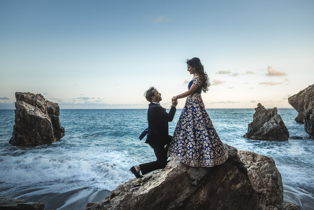 Indian wedding by the sea, Cetraro Calabria Italy