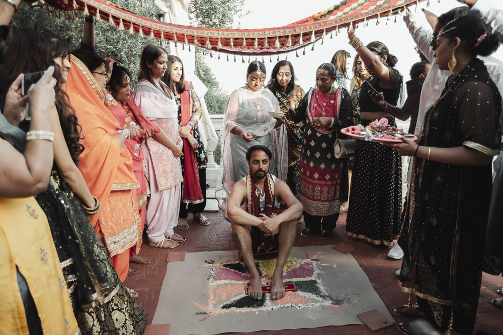 Pithi ceremony in Italy